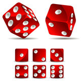 Dices. Set of dices isolated on white background Stock Photos