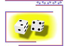 Dices. Creation in Coreldraw10 for gambling House or Casino logo / commercial Stock Photography