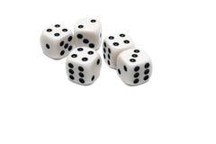5 dices Стоковое Изображение