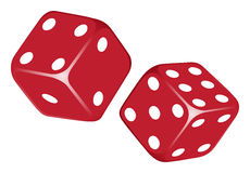 Dices. Flying isolated on a white background. Vector illustration Royalty Free Stock Photography