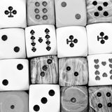 Dices as background Stock Image