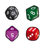 Dices assortment royalty free stock images