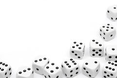 Dices background vignette Royalty Free Stock Images
