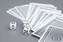 Dices and card Royalty Free Stock Image