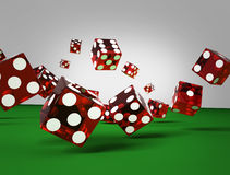 Dices of the casino. 3d illustration on gray background Royalty Free Stock Photo