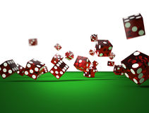 Dices of the casino. 3d illustration on white background Stock Image