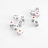 Dices from casino. Close up Dices from casino Royalty Free Stock Photography
