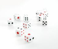 Dices from casino. With white background Royalty Free Stock Photo