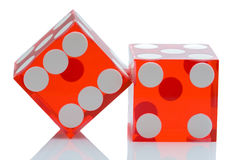 Dices of the casino Stock Photography