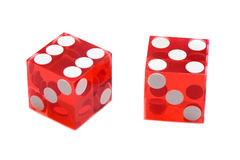 Dices of the casino Stock Photo