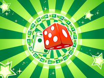 Dices casino background Royalty Free Stock Photos