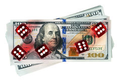 Dices Casino background Stock Images