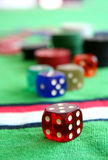 Dices in casino Royalty Free Stock Image