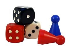 Dices and checkers Stock Photography