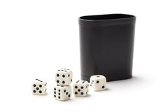 Dices and Cup - Stock Photo Royalty Free Stock Photos