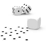 The dices Royalty Free Stock Photos