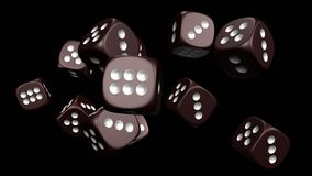 Dices 3d rendering. Dice 3D model, high resolution 3d rendering Stock Photo