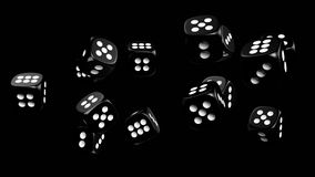 Dices 3d rendering. Dice 3D model, high resolution 3d rendering Stock Image