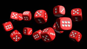 Dices 3d rendering. Dice 3D model, high resolution 3d rendering Royalty Free Stock Images