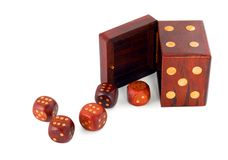 Dices in dice Royalty Free Stock Photography