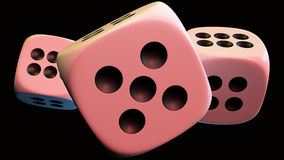 Dices. Dice 3D model, high resolution 3d render Stock Images