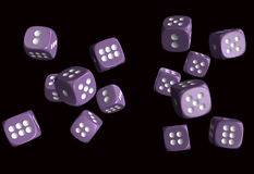 Dices. Dice 3D model, high resolution 3d render Royalty Free Stock Image