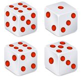Dices for dribbling Royalty Free Stock Image