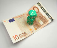 Dices on euro Stock Photo