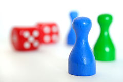 Dices and figures. Some figures and dices Stock Image
