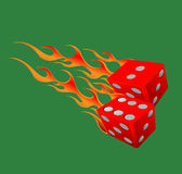 Dices on fire Stock Image