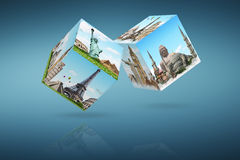 Dices game travel concept Royalty Free Stock Photos