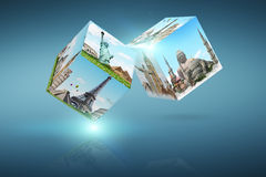 Dices game travel concept Stock Image