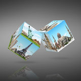 Dices game travel concept Royalty Free Stock Photo