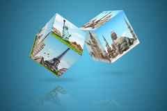 Dices game travel concept Stock Photography
