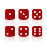 Dices for gameswith all the numbers. Stock Photo
