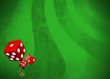 Dices_green Fotos de archivo libres de regalías