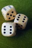 the dices on green table Stock Image