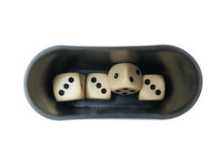 Dices and holder Stock Photos
