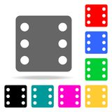 Dices icon. Elements in multi colored icons for mobile concept and web apps. Icons for website design and development, app develop. Ment on white background vector illustration