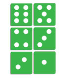 Dices ,  illustration Royalty Free Stock Photo