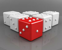 Dices leadership concept Stock Photo
