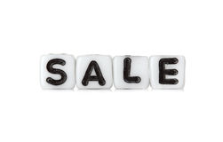 Dices with letters forming word: sale Stock Photography