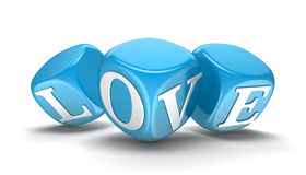 Dices and love (clipping path included) Stock Photo