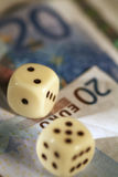 Dices & Money Stock Photos