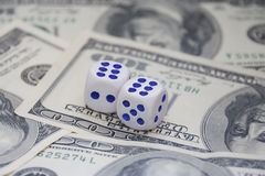 Dices and money Royalty Free Stock Photo
