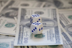 Dices and money Royalty Free Stock Image