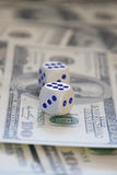 Dices and money Royalty Free Stock Images