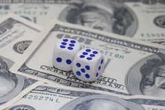 Dices and money Stock Images