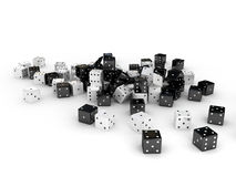 Dices over white background. 3d render Stock Photos