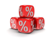 Dices with percent sign Royalty Free Stock Photo